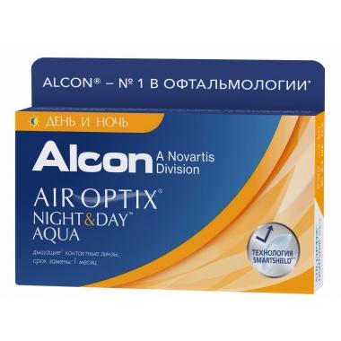 Контактные линзы Air Optix Night & Day Aqua (6 шт.)