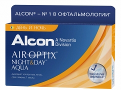 Контактные линзы Air Optix Night & Day Aqua (6 шт.)