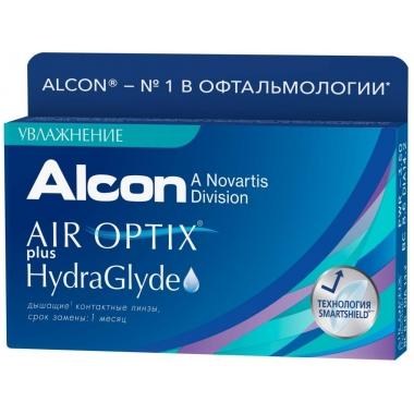 Контактные линзы Air Optix Plus Hydraglyde (6 шт.)